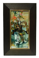 Flowers Still Life/original, oil on cardboard in the frame S.Hahonin  25x12 cm