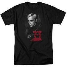 Harry Potter Movie Draco Malfoy Photo With Wand Adult T Shirt