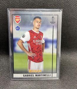 Gabriel Martinelli Chrome Rookie Card 2020-21 Topps Merlin #24 Arsenal FC RC