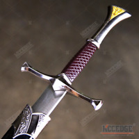 "14"" Medieval Knight's Golden Triangle Fixed Blade Dagger Knife with Sheath"