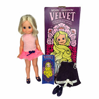 1970 Vintage Ideal Velvet Doll w/ Box and 2 ORIGINAL OUTFITS Crissy Cousin MINTY