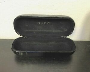 Gucci Sunglasses Black Leather Hard Case for Glasses