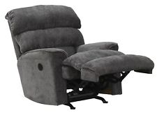 Catnapper Pearson Chaise Rocker Recliner in Charcoal