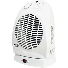 Comfort Zone Cz50 Compact Portable Oscillating Space Heater Personal Fan, White