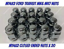 Alloy Wheel Nuts x 20 40mm Deep M14x2 Ford transit Tourneo 2000/>2014 mk6 mk7
