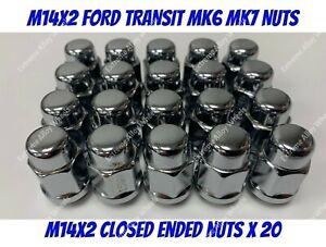 Alloy Wheel Nuts Closed x 20 M14x2 Fits Ford transit Tourneo 2000>2014 mk6 mk7