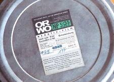 eine leere Blech- Filmdose von ORWO; war für NP55, 35mm Film