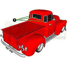 47-54 Chevy/GMC Truck Back Rear 3 Window Glass Gasket Rubber Seal w/ Black Trim