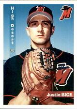 1997 High Desert Mavericks Grandstand #1 Justin Bice Mesa Arizona Baseball Card