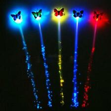 Colorful Butterfly Wigs Glowing Flash LED Hair Braid Clip Hairpin Decorat Ligth