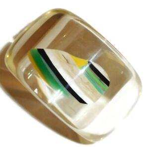 Sobral Pedra Naturais Agatha PB50 Inclsuion Artist Made Bangle Bracelet