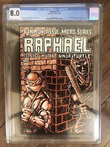 Raphael #1 1985 Mirage Studios 8.0 CGC grade