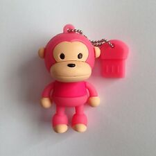 1 New Cute Novelty Pink Standing Monkey, 128MB USB Flash Drive Memory Stick