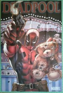 """Deadpool"" w/ Teddy Bear 2009 Marvel Promo Poster by Greg Land"