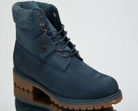 Timberland 6 Inch Premium Waterproof Boots Men's 2018 Lifestyle Shoes Navy A1UEU