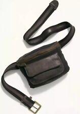 NEW Free People Charlie Acid Wash Fanny Pack Sling Belt Bag Handbag Black Speck