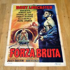 FORZA BRUTA manifesto poster affiche Burt Lancaster Jules Dassin Brute Force