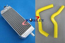For SUZUKI RM85 RM 85 2002 03 04 05 06 07 08 09 Aluminum radiator & hose YELLOW