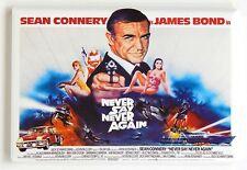 Never Say Never Again FRIDGE MAGNET (2 x 3 inches) quad movie poster james bond
