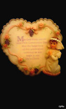 Girls My First Communion  Keepsake plaque Porcelain by Malco   New in the box