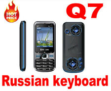 Hot Q7 Quad Band Dual Sim phone Tv Unlocked Mobile Phone Russian keyboard