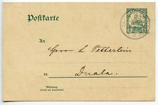 KAMERUN 1910 postal card 5pf green Bipindihof to Duala