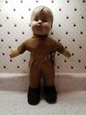 Rare antique little boy doll dressed in the Frontiersman outfit no Reserve