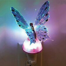 Lovely Night Light Fiber Optic Butterfly LED Color Changing Lamp Home Room Decor