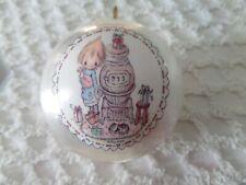 Vtg 1976 Betsey Clark Potbelly Stove Satin Ball Christmas ornament Hallmark