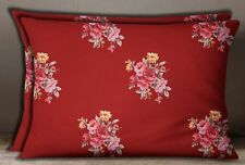 S4Sassy Floral Print Cotton Poplin Decorative Pillow Sham Cushion Cover 2 Pcs.