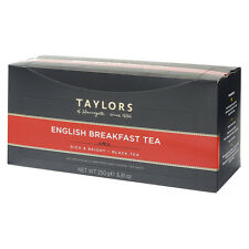 Taylors of harrogate english breakfast tea - 100 emballés et étiquetés thé sacs