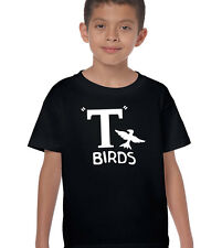 Boys T-Birds T-Shirt Funny Grease Retro Ideal Fancy Dress Costume Outfit Kids