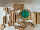 Wooden trains tracks lot of 38 Different Pieces