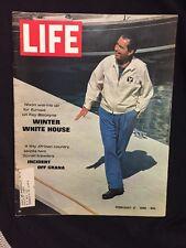 48 year old Original Feb 21 1969 LIFE Magazine feat. Richard Nixon Florida cover