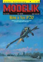 Modelik 19/08 -  Blohm & Voss P.210 mit Lasercutteilen    1:33
