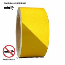 "1 Roll Yellow 2"" x 30 feet Reflective Engineering Grade Tape Pinstripe"