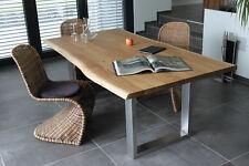 Wildeiche Baumkante Massivholzesstisch Eichentisch 200x100 Esstisch Holztisch