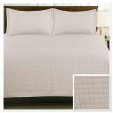 Rapport Harrogate Quilted Bedspread 220 x 250cm Plus Optional Pillowshams Latte