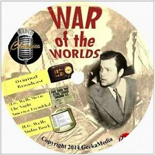 War of the Worlds DVD Orson Welles Radio H.G. Wells Audio Book Movie Collection