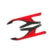 "MICROHELI Carbon Fiber Landing Skids ""I"", Red (MH series) MHE18FX006IR"