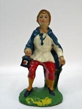 PRESEPE viandante lumino bastone vecchia statuina cartapesta Nativity PRESEPIO