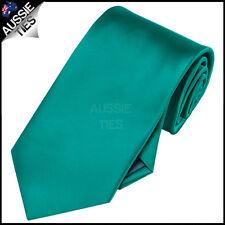MENS JADE / TEAL / GREEN 8.5CM TIE necktie wedding plain formal