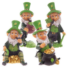 Four Pack Lucky Leprechaun Figures 9 - 11cm Irish Folklore St Patricks Day