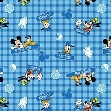 Disney Mickey Outdoor Fun Flannel 100% cotton flannel fabric by the yard