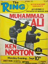 The Ring Sept 1973 Vtg Boxing Magazine - Muhammad Ali Ken Norton - No Label GD