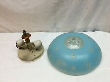 blue frosted Ceiling Light Glass  Shade  Stars Chic beautiful with Mounting