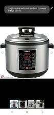 GoWISE USA GW22637 4th-Generation Electric Pressure Cooker with (14-Qt|Silver)