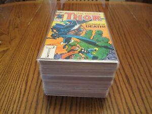 THE MIGHTY THOR, 1 Huge Lot (55)#s 343 to 456, Nice Runs, Avengers Hercules Loki