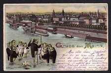 98467 AK Mainz Eiserner Turm Holzturm 1907 Gasthaus