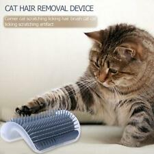 Removable Cat Corner Scratching Rubbing Brush Pet Grooming Hair Removal Massage